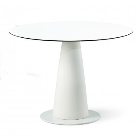 Table ronde Hoplà, Slide design blanc D100xH72 cm