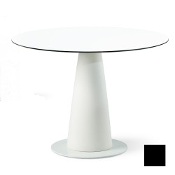 Table ronde Hoplà, Slide design noir D100xH72 cm