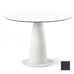 Table ronde Hoplà, Slide design gris D100xH72 cm
