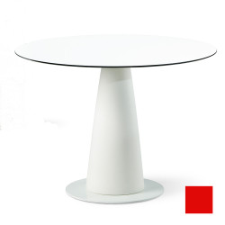 Table ronde Hoplà, Slide design rouge D100xH72 cm