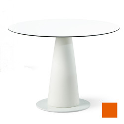 Table ronde Hoplà, Slide design orange D100xH72 cm