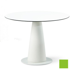 Table ronde Hoplà, Slide design vert D100xH72 cm