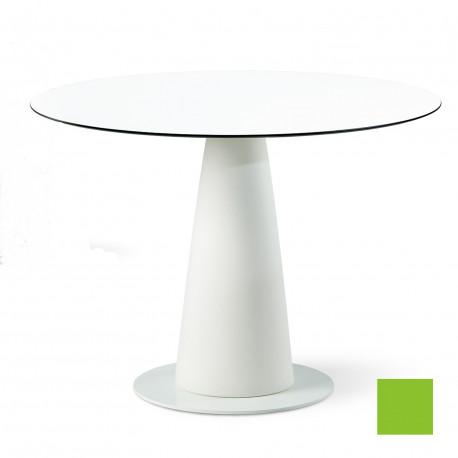 Table ronde Hoplà, Slide design vert D100xH72 cm