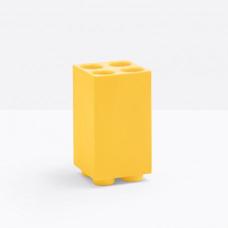Porte parapluie Brick 4 emplacements, Pedrali jaune