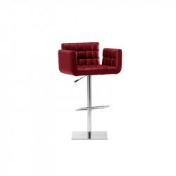 Tabouret design Marsiglia SG, assise réglable, Midj rouge bulgare