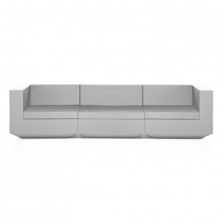 Canapé modulable Vela, Vondom blanc Longueur 3 m