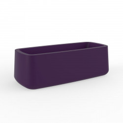 Jardinière Ulm simple paroi, Vondom violet prune 84x34xH30 cm