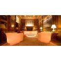 Table basse Bum Bum, Vondom blanc laqué brillant 148x68xH38 cm