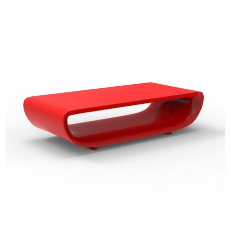 Table basse Bum Bum, Vondom rouge laqué brillant 148x68xH38 cm