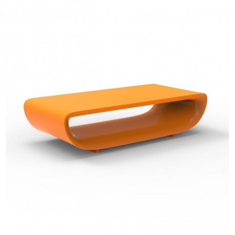 Table basse Bum Bum, Vondom orange laqué brillant 148x68xH38 cm