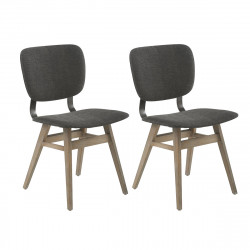 Lot de 2 chaises retro Colding, Hanjel anthracite