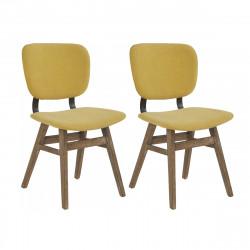 Lot de 2 chaises retro Colding, Hanjel moutarde