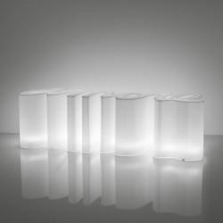 Banc Amore, Slide Design blanc Lumineux