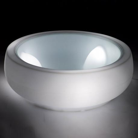 Chubby Side table lumineuse, Slide Design blanc