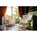 Fauteuil Trône Queen of Love, Design of Love by Slide rose fuchsia