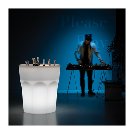 Pot seau à champagne géant design Cubalibre lumineux Outdoor, Plust