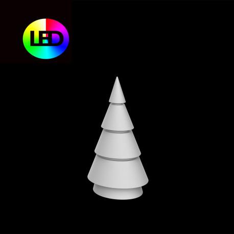 Sapin de Noel lumineux Forest, Vondom, hauteur 100 cm, éclairage multicolore Led RGBW, intérieur extérieur, alimentation filaire