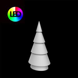 Sapin de Noel lumineux Forest, Vondom, hauteur 150 cm, éclairage multicolore Led RGBW, intérieur extérieur, alimentation filaire