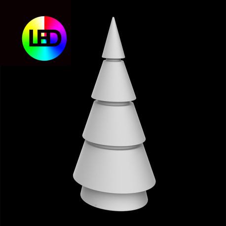 Sapin de Noel lumineux Forest, Vondom, hauteur 200 cm, éclairage multicolore Led RGBW, intérieur extérieur, alimentation filaire