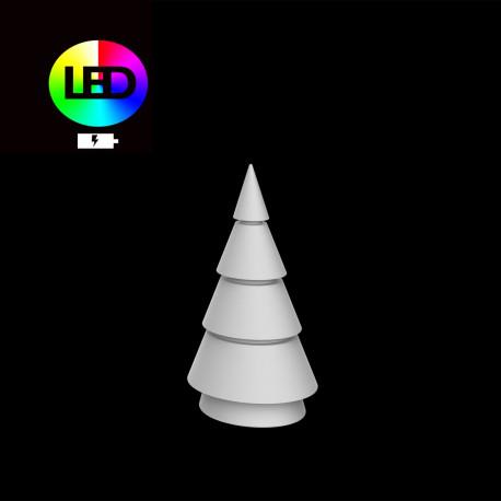 Sapin de Noel lumineux Forest, Vondom, hauteur 200 cm, éclairage multicolore Led RGBW, intérieur extérieur, batterie