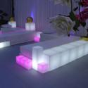 Cubo Led RGB 25 cm, Slide Design, alimentation batterie