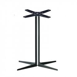 Piétement de table Sintesy indoor, 4 branches, H 73 cm, Midj, noir