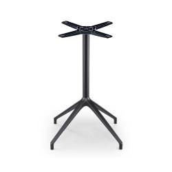 Piétement de table Lina, hauteur 73 cm, intérieur extérieur, laqué noir