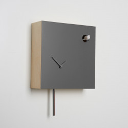 Horloge coucou Icona carrée, Diamantini & Domeniconi gris