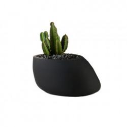 Pot Stone H 40 cm, avec réserve d\'eau, Vondom noir