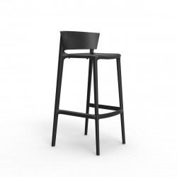 Tabouret de bar Africa hauteur d\'assise 76 cm, Vondom noir