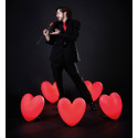 Lampe coeur Love, Slide Design rouge
