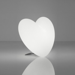 Lampe coeur Love, Slide Design blanc