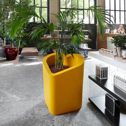 Pot design Mon amour, Slide design jaune