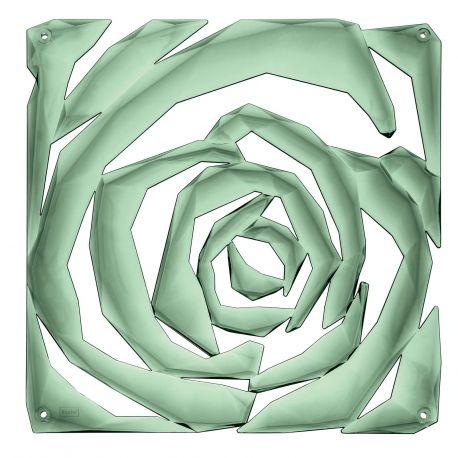 20 carrés séparations design Romance, Koziol vert eucalyptus transparent