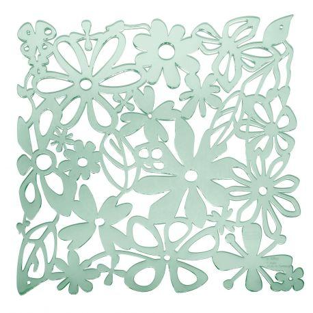 20 carrés séparations design Alice, Koziol vert eucalyptus transparent