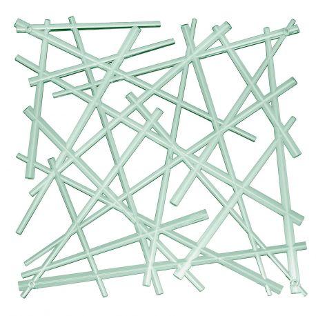 20 carrés séparations design Stixx, Koziol vert eucalyptus transparent