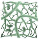 20 carrés séparations design PIP, Koziol vert eucalyptus transparent