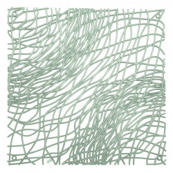 20 carrés séparations design Silk, Koziol vert eucalyptus transparent