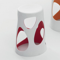 Tabouret design Liberty, MyYour rouge, hauteur 45 cm