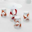 Table Liberty L, MyYour rouge Diamètre 90 cm
