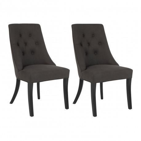 Lot de 2 chaises Léopold, Hanjel gris
