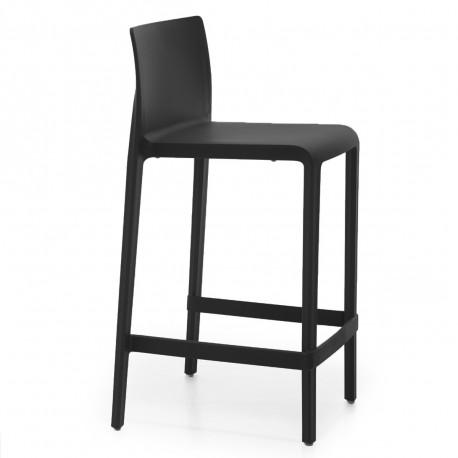 Tabouret Volt 677, Pedrali noir, hauteur d'assise 66 cm