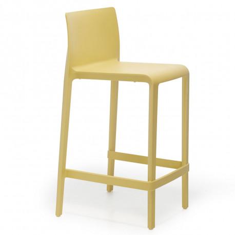 Tabouret Volt 677, Pedrali jaune, hauteur d'assise 66 cm