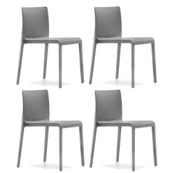 Lot de 4 Chaises Volt 670, Pedrali, gris anthracite