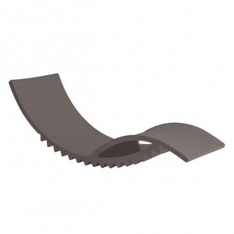Tic chaise longue design, Slide Design gris argile