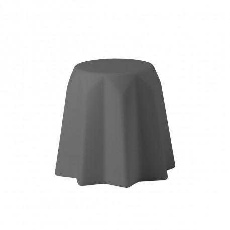 Tabouret, table basse Pandoro, Slide Design, gris éléphant