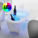 Table basse design Lily avec bac à glace, MyYour, Lumineuse LED RGBW
