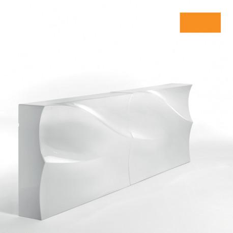 Module droit Bar Baraonda, avec emplacement évier, MyYour, orange