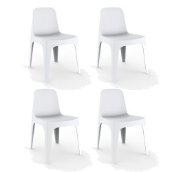 Lot de 4 Chaises Solid, Vondom blanc