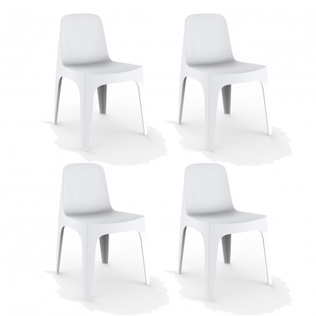 Lot de 4 Chaises Solid, Vondom blanc